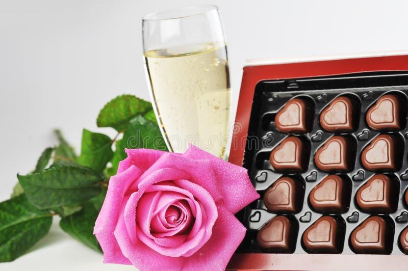 пинк шампанского поднял стоковое изображение rf