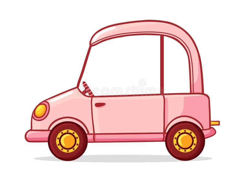 пинк шаржа автомобиля Иллюстрация вектора в стиле шаржа бесплатная иллюстрация