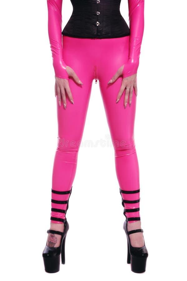 пинк catsuit стоковое изображение