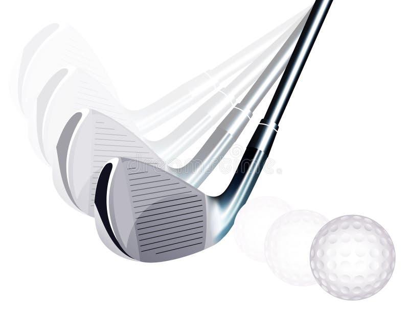 пинок гольфа иллюстрация вектора
