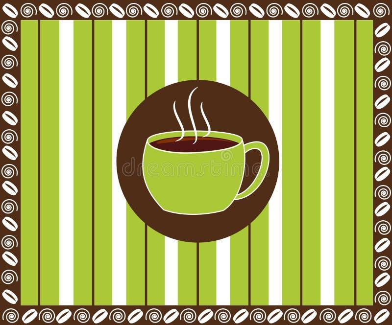 пинстрайп кофе иллюстрация вектора