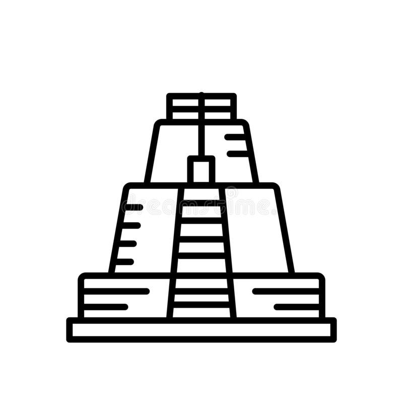 Пирамида вектора значка волшебника изолированная на белой предпосылке, пирамида знака волшебника, линия или линейный знак, элемен бесплатная иллюстрация