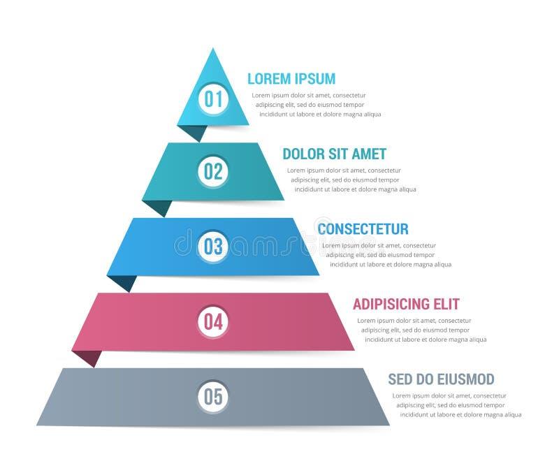 Пирамида Infographics иллюстрация штока