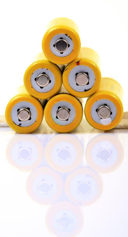 пирамидка батареи стоковые фотографии rf