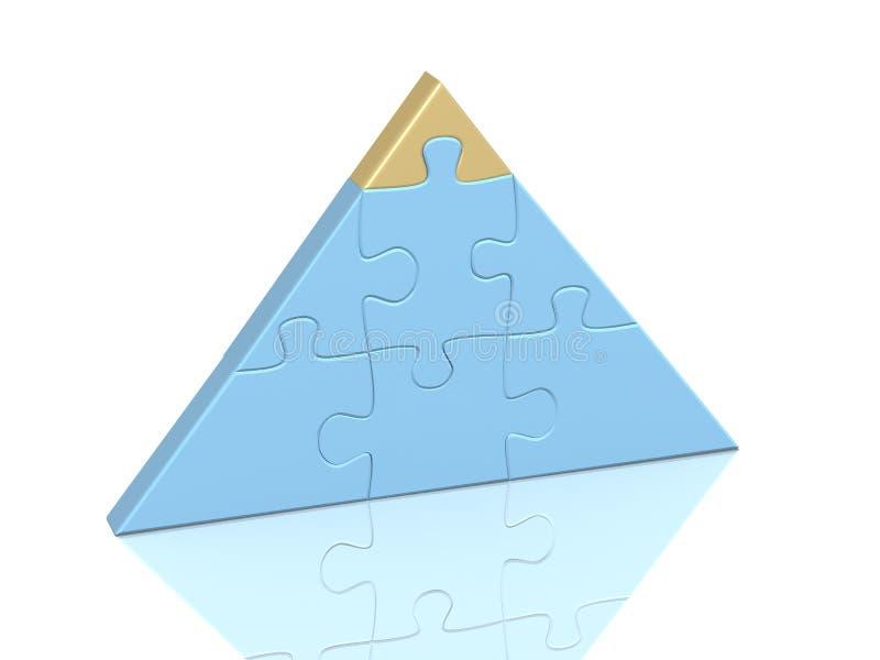 пирамидка головоломки частей иллюстрация вектора