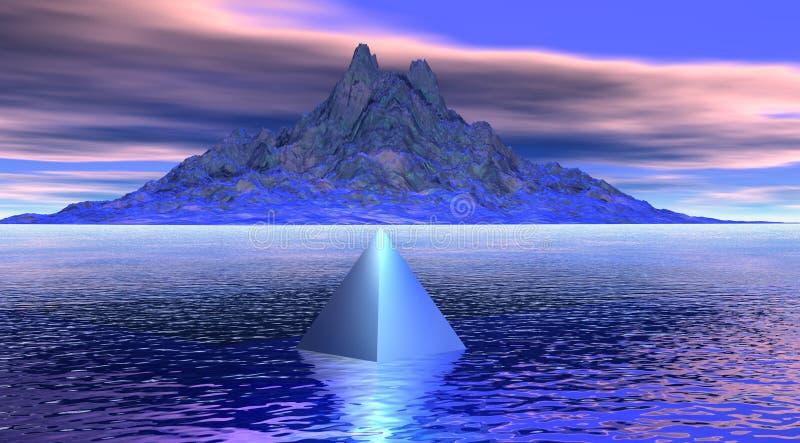 пирамидка горы бесплатная иллюстрация
