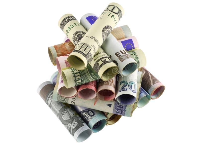 Пирамидка денег стоковые изображения rf