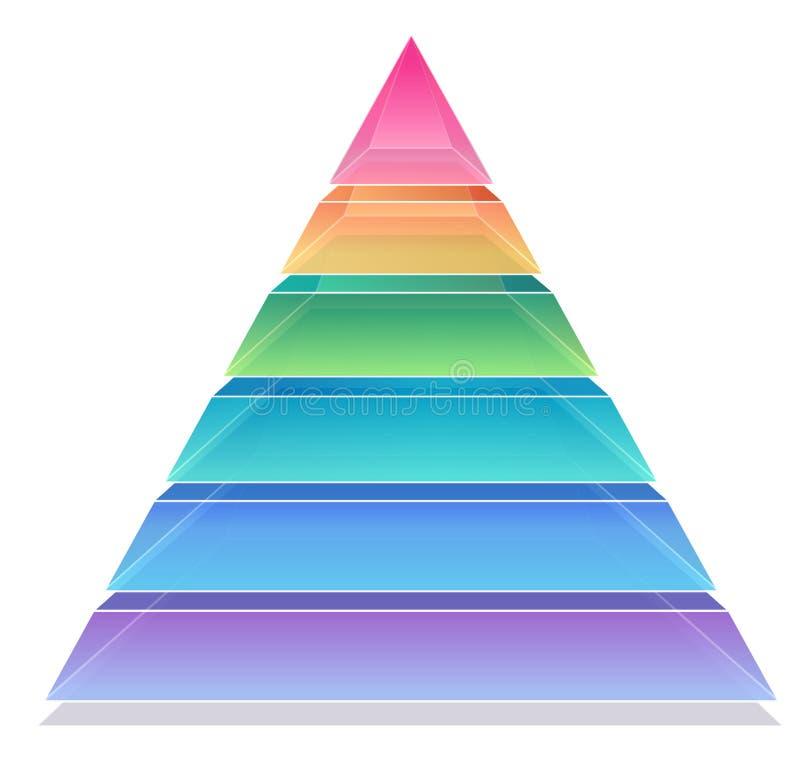 пирамидка диаграммы 3d иллюстрация вектора