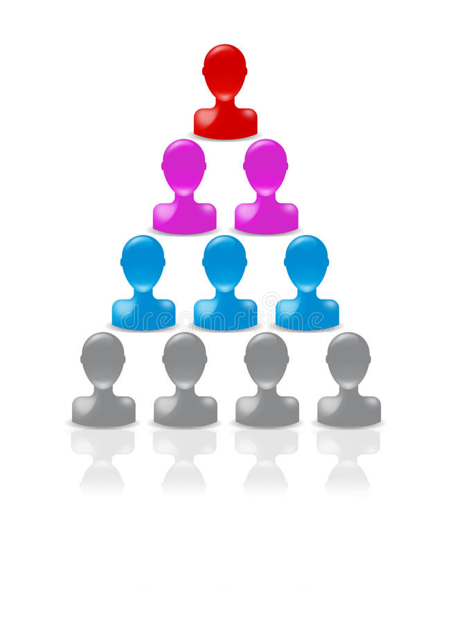 пирамидка иерархии бесплатная иллюстрация