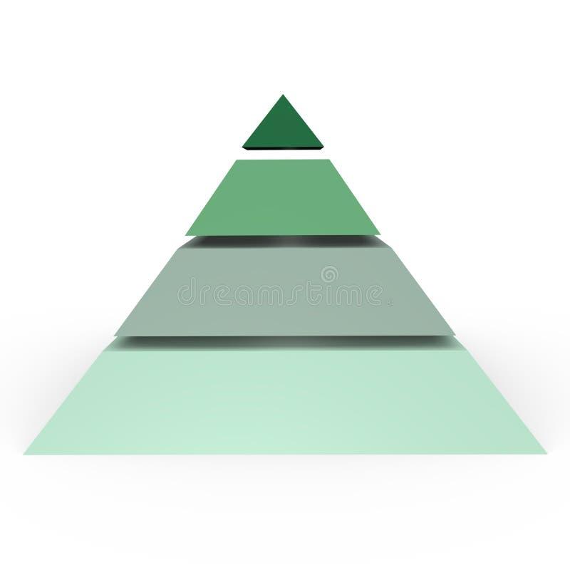 пирамидка изображения 3d 4 ровная иллюстрация вектора