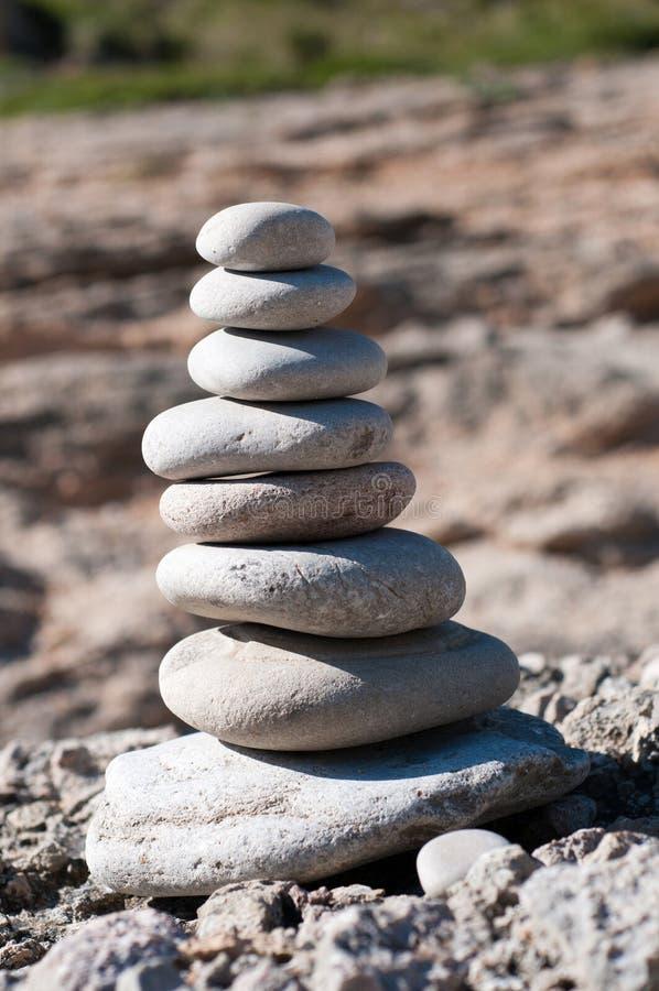 Пирамидка от камней стоковое фото rf