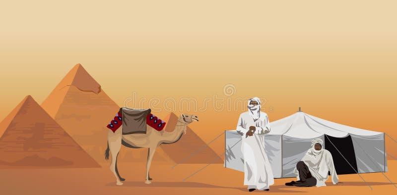 пирамидки бедуинов бесплатная иллюстрация