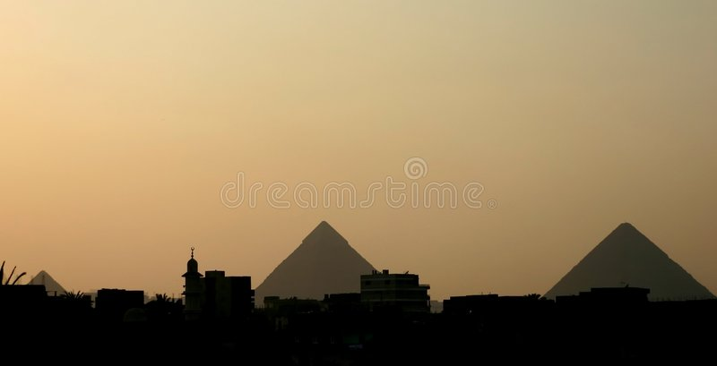 пирамидки Каира стоковое фото rf
