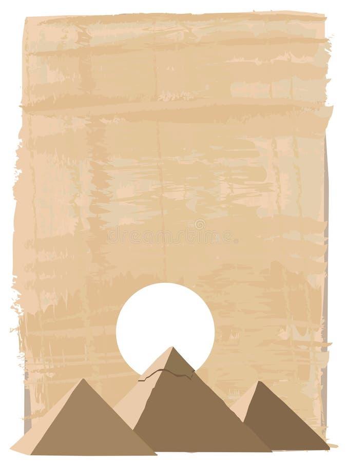 пирамидки giza иллюстрация вектора