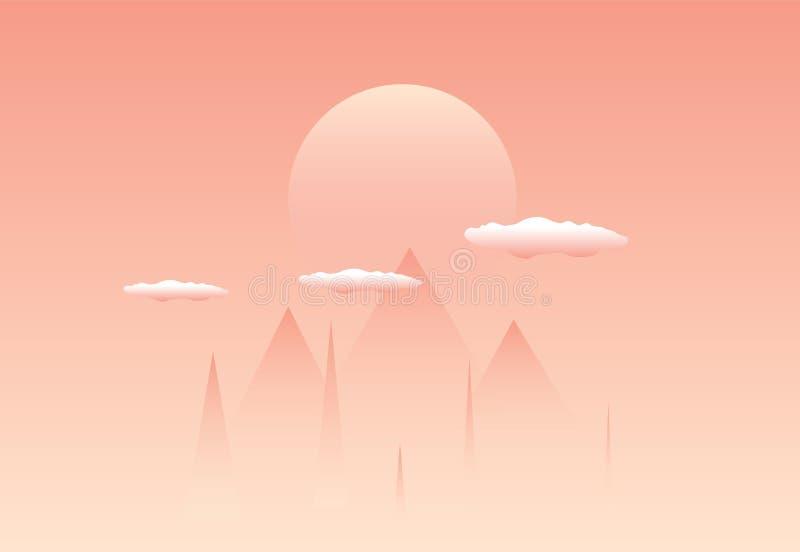 Пирамиды в тумане облака заход солнца солнца бесплатная иллюстрация