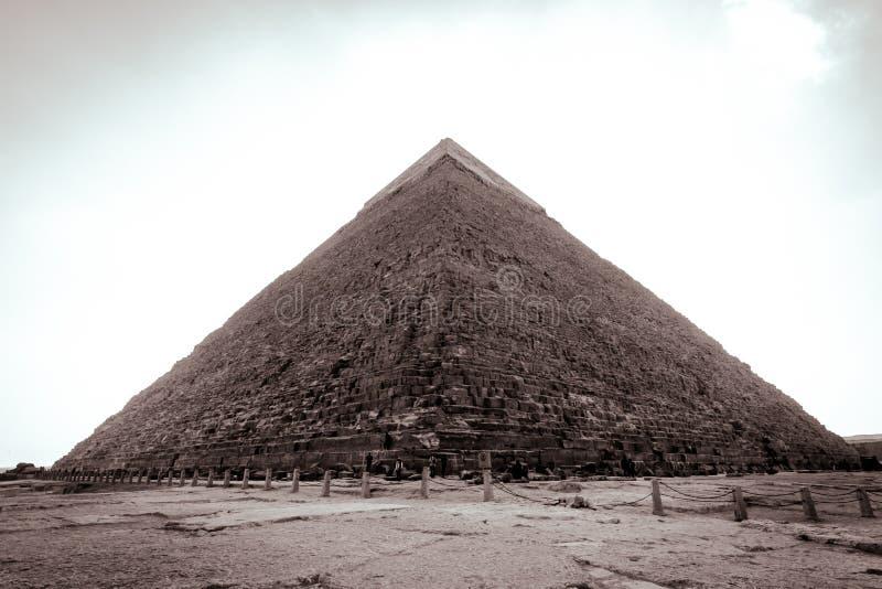 Пирамиды Гизы в ясном дне стоковое изображение