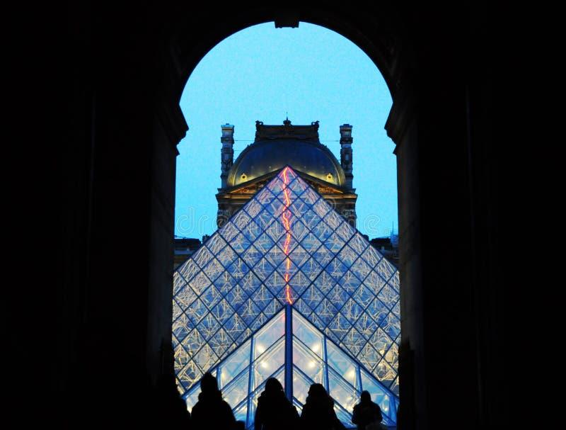 Пирамида жалюзи на наступлении ночи стоковая фотография rf