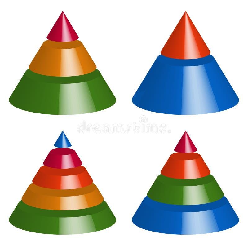 Download Пирамида, диаграммы конуса 3-2-5-4 уровней Многоуровневое Gra треугольника 3d Иллюстрация вектора - иллюстрации насчитывающей уровень, конус: 81812353
