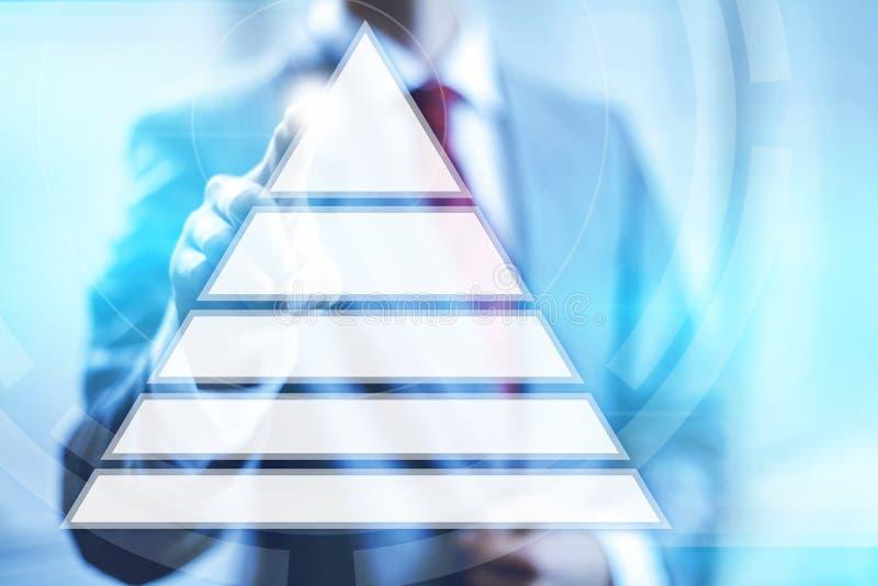 Пирамида иерархии иллюстрация штока