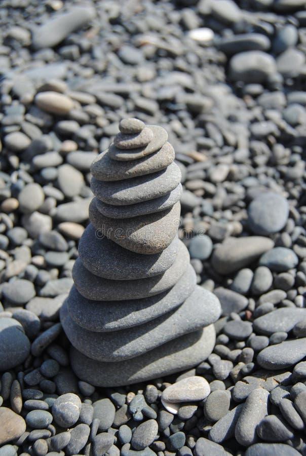 Пирамида камня, Новой Зеландии стоковая фотография rf