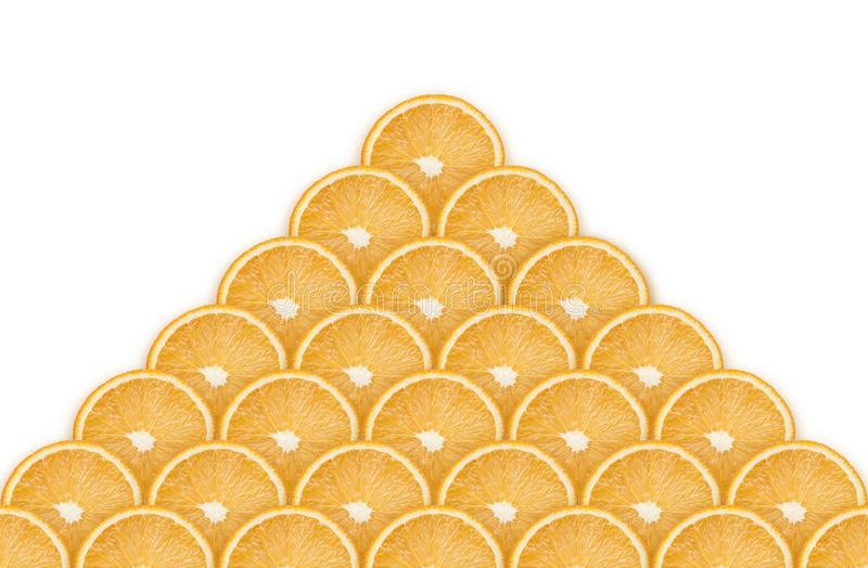 Пирамида от оранжевых кусков стоковое фото rf
