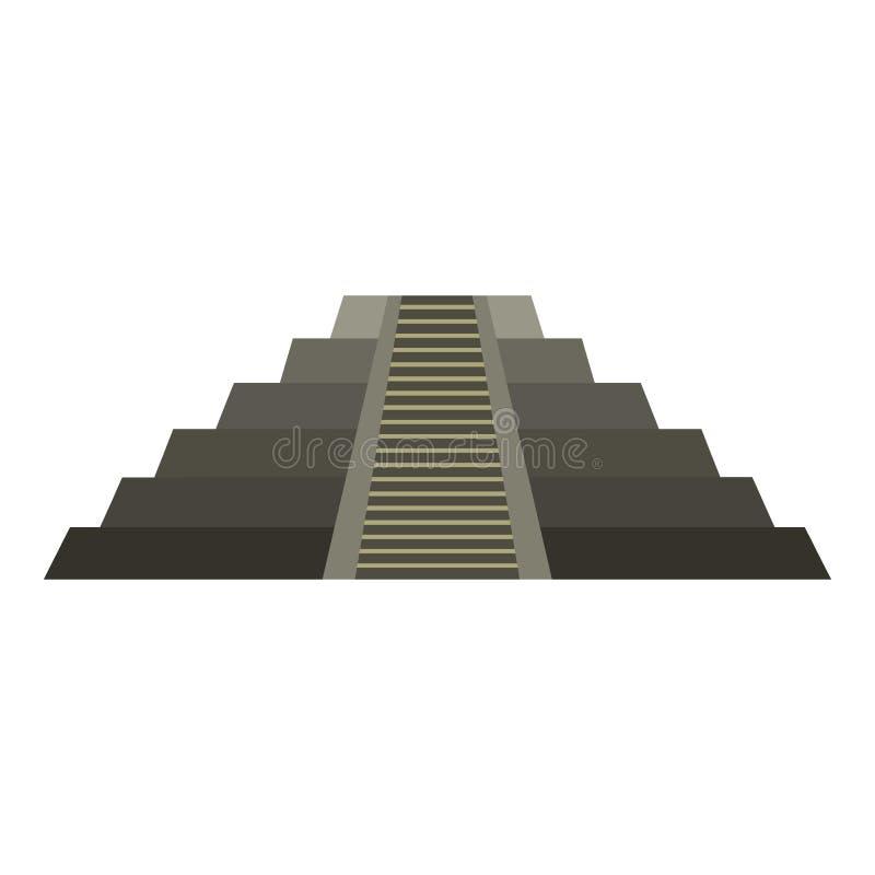 Пирамида El Castillo майяская на значке Chichen Itza бесплатная иллюстрация