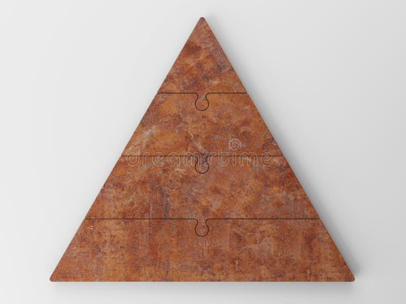 пирамидка иерархии принципиальной схемы дела 3d иллюстрация вектора