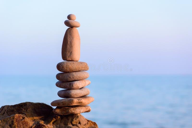 Пирамидка камушков стоковые фотографии rf