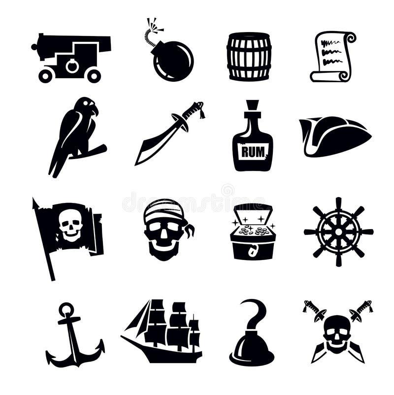 Пиратствует значок иллюстрация штока