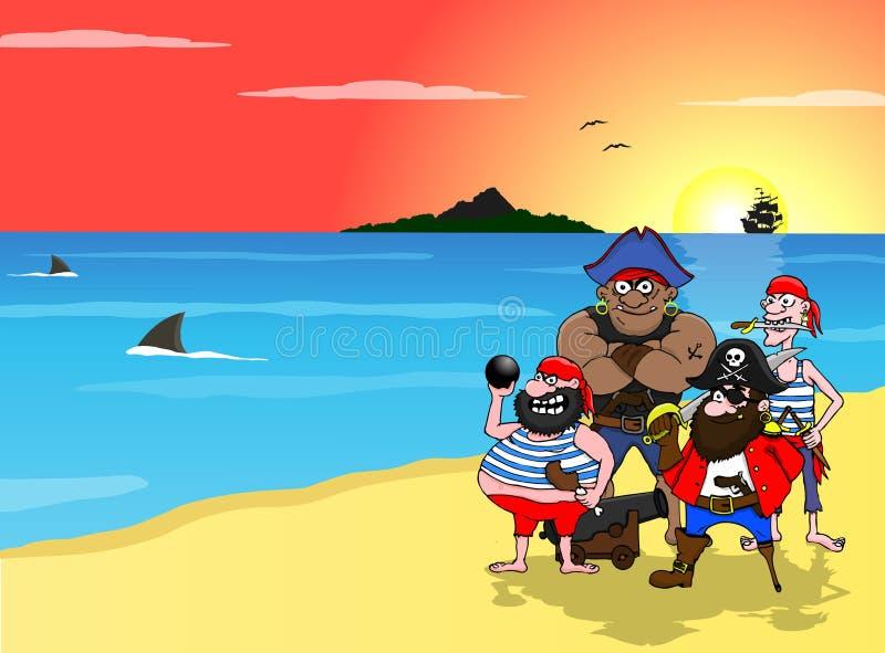 пираты иллюстрация штока