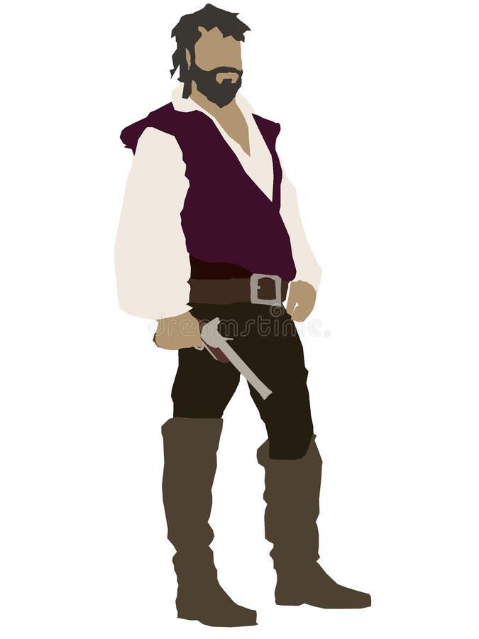 Пират возложенный пурпуром стоковые фотографии rf