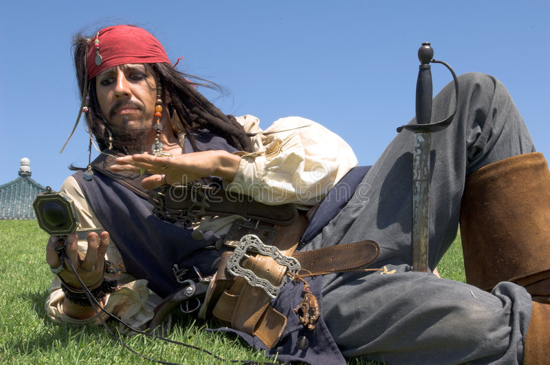 пират капитана стоковые изображения rf