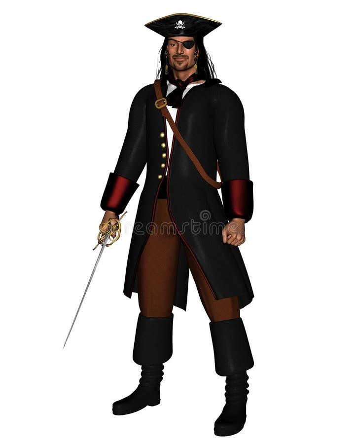 пират короля иллюстрация вектора
