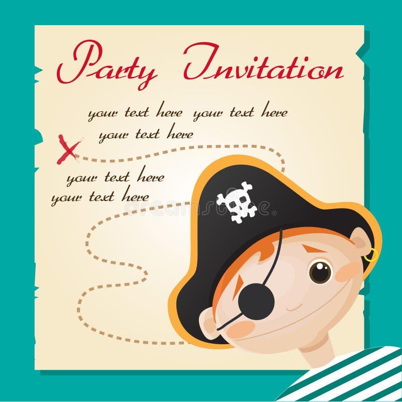 пират партии приглашения иллюстрация штока