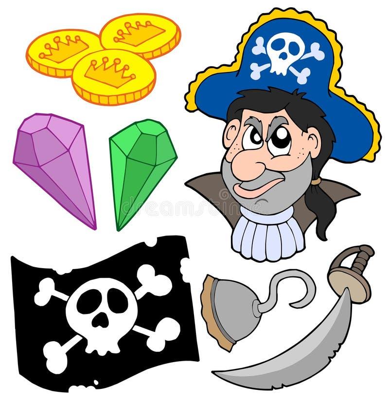пират 5 собраний иллюстрация штока
