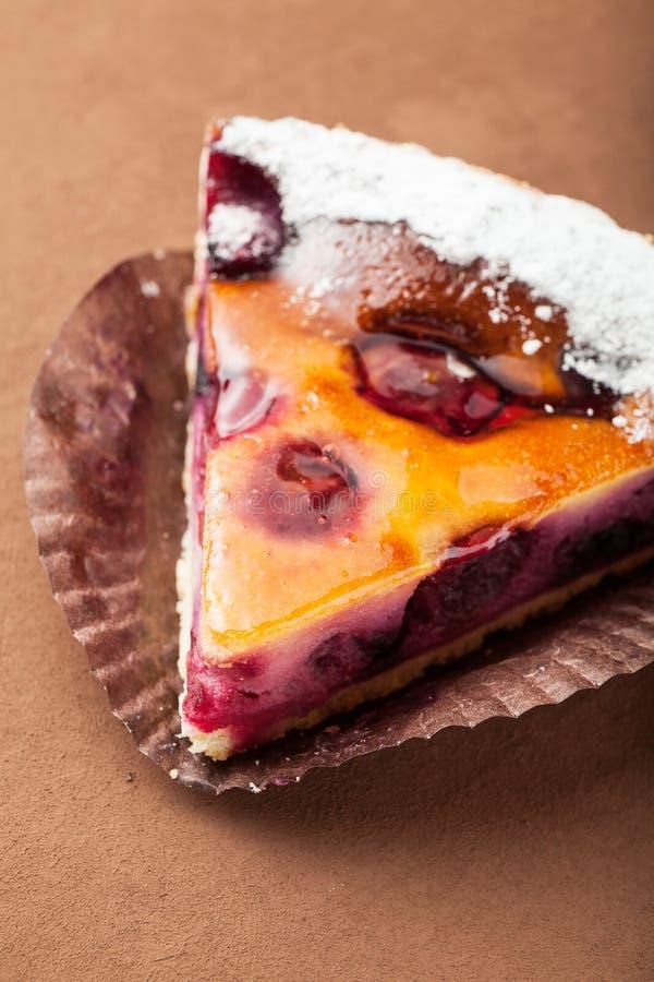 Пирог для семейного рецепта, конец-вверх ягоды стоковые изображения