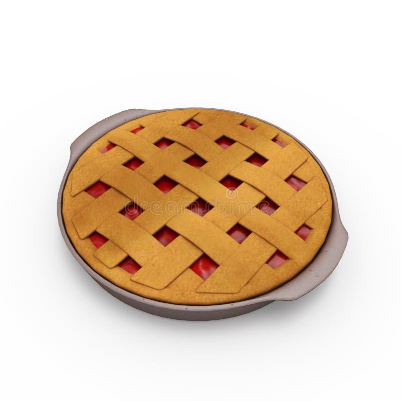Пирог. Еда. 3d  иллюстрация штока