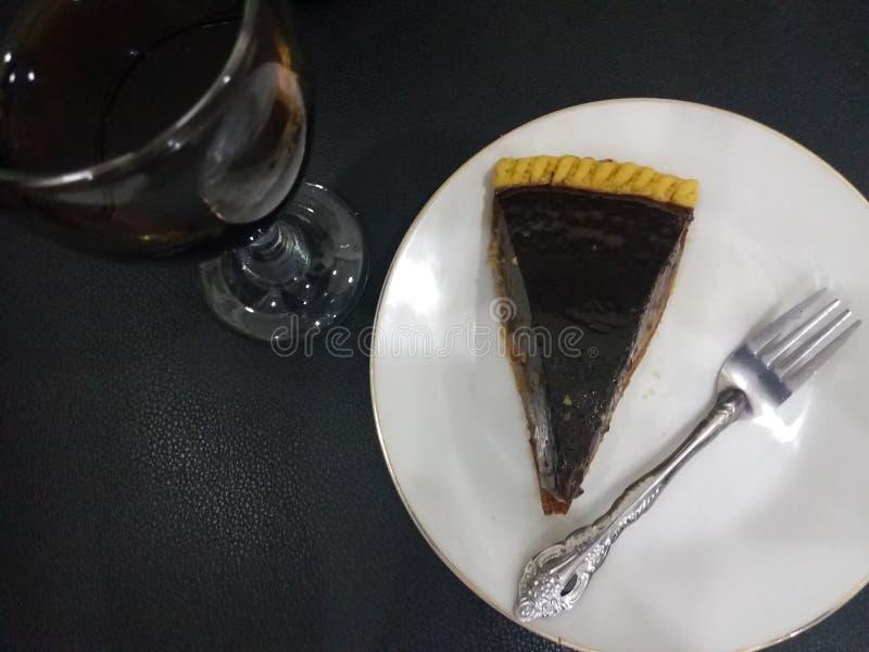 пирог и вино молока стоковые фотографии rf