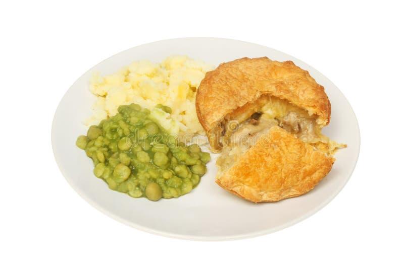 Пирог и veg цыпленка стоковое фото rf
