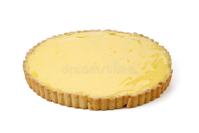 Пирог лимона изолированный на белой предпосылке стоковые фото