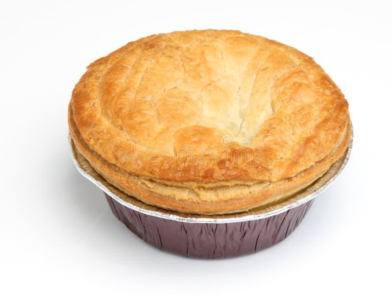 Пирог мяса стейка на белой предпосылке стоковая фотография