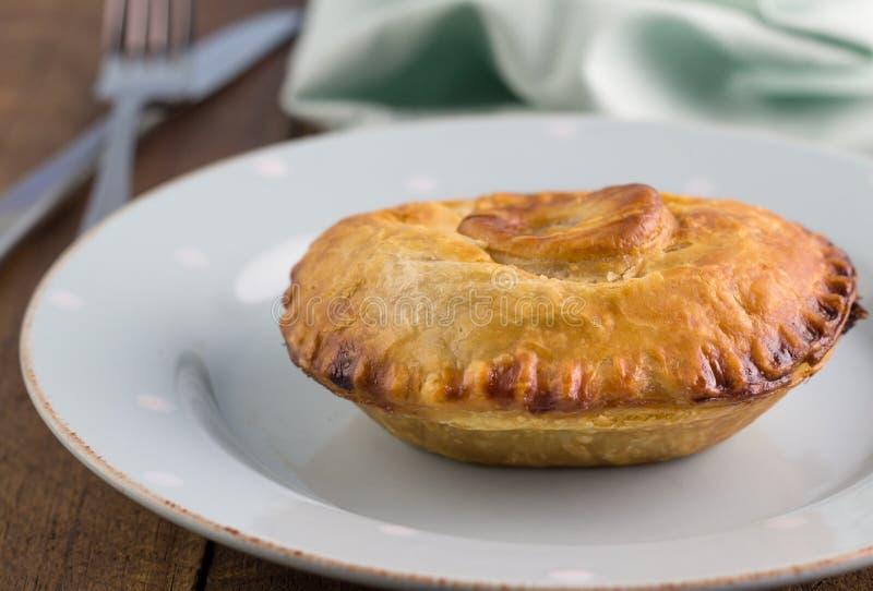Пирог мяса стейка с подливкой - жалуйтесь пирог в конце печенья слойки вверх дальше стоковые изображения rf