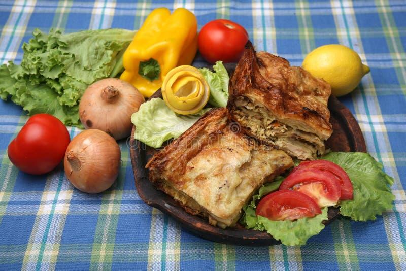 Пирог мяса цыпленка стоковые изображения rf