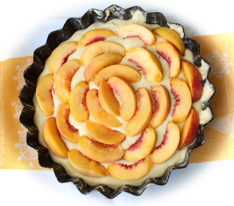 Пирог персика стоковые фотографии rf
