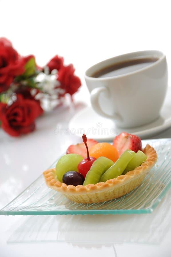 пирог плодоовощ кофе стоковая фотография rf