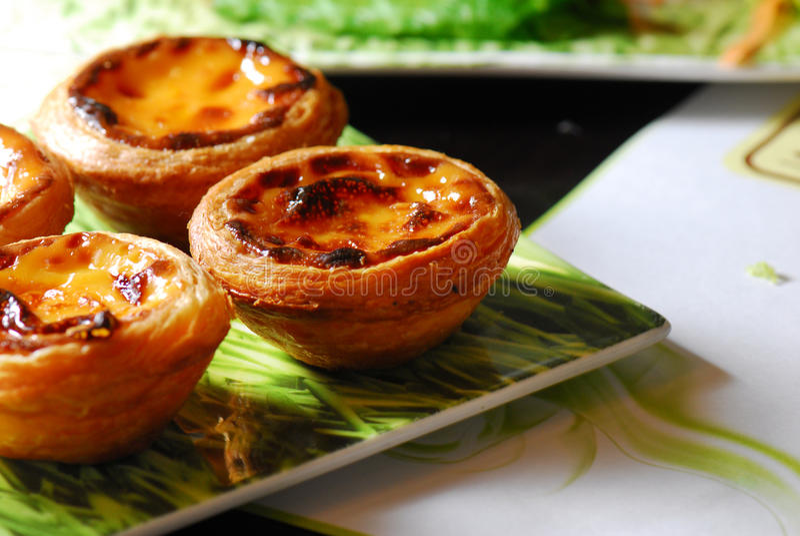 пирог Португалии яичка стоковые фото