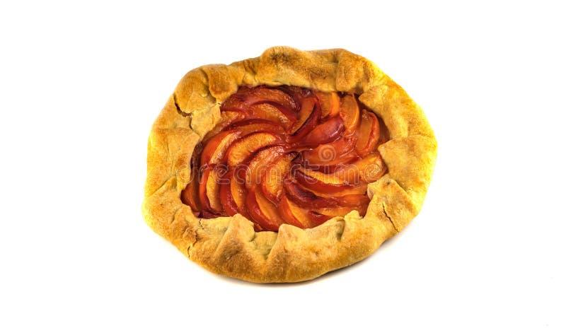 Пирог с завалкой персика стоковое изображение