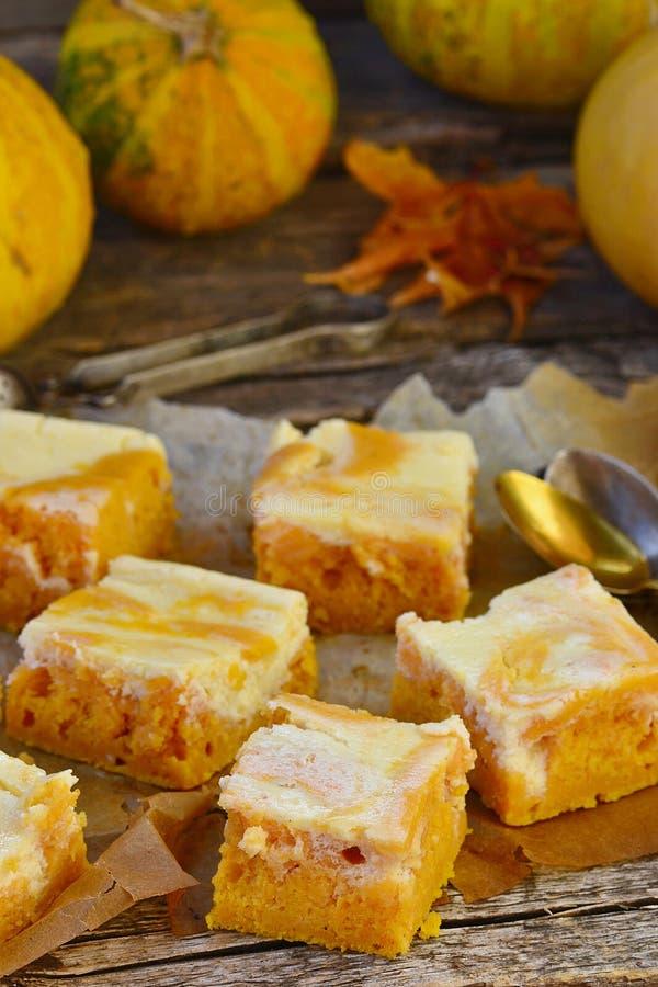 Пирог тыквы о плавленом сыре стоковые изображения rf