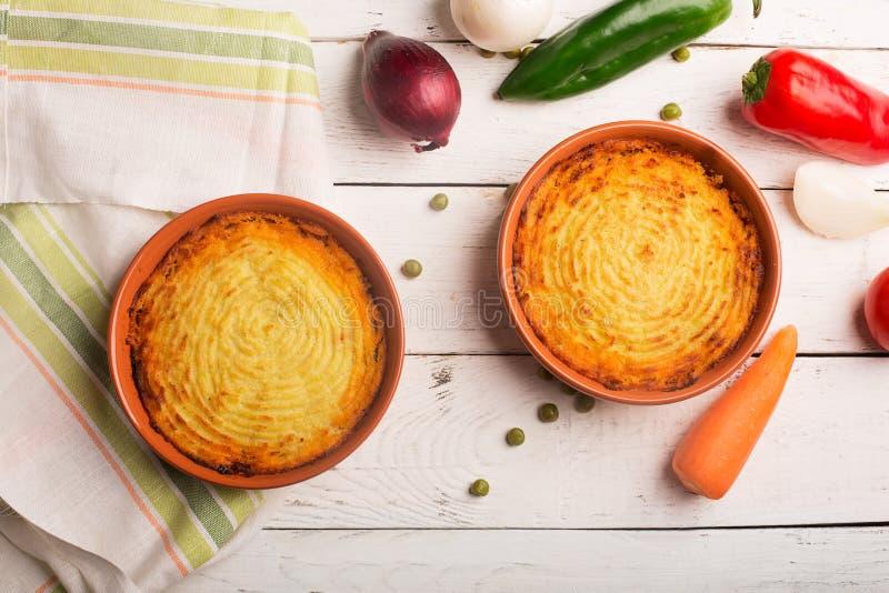Пирог чабана с картошкой стоковая фотография