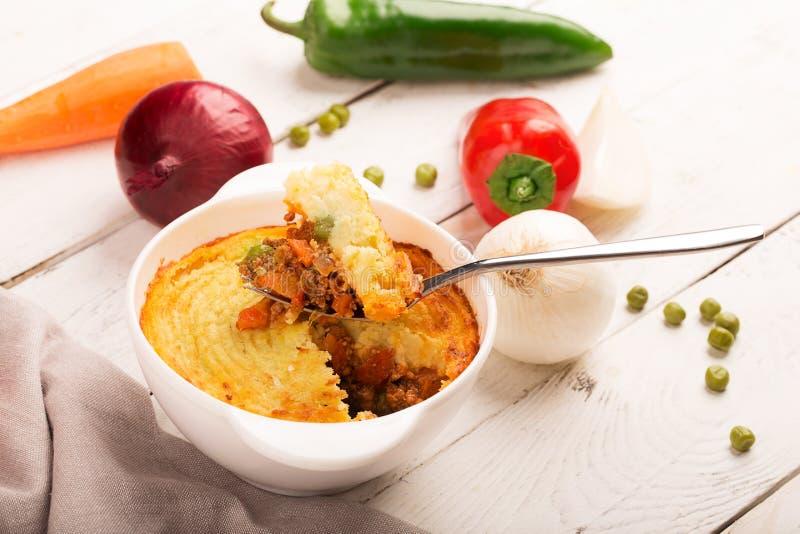 Пирог чабана с картошкой стоковые фотографии rf